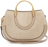 Chloé Pixie medium leather and suede shoulder bag