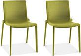 Beekat Set of 2 Indoor/Outdoor Chairs, Quick Ship