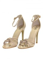 AX Paris Nude Patent Knot Front Heels