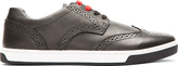 Diesel Black Leather Brogued Prime Time Sneakers