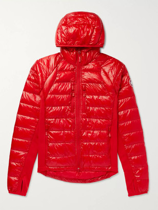 Canada Goose HyBridge Lite Slim-Fit Quilted Feather-Light 10D and Tensile-Tech Hooded Down Jacket - Men - Red
