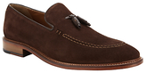 John Lewis Suede Tassel Loafers, Brown