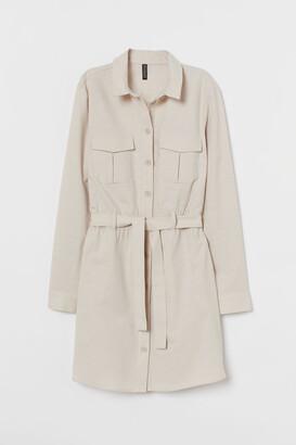 H&M Cotton Utility Dress - Beige
