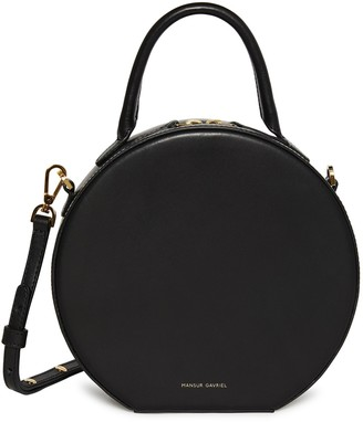 Mansur Gavriel Vegetable Tanned Circle Crossbody - Black