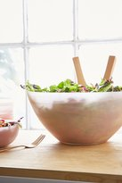 Urban Outfitters Swirled Glass Serving Bowl