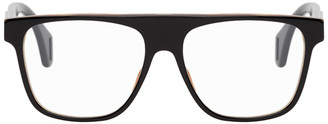 Gucci Black and Tortoiseshell Square Glasses