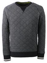 Classic Men's Quilted Crewneck Knit Sweatshirt-All Gray Heather