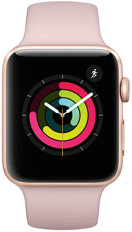 Apple Watch Series 3 (GPS) 42mm Gold Aluminum Case with Pink Sand Sport Band