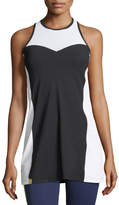 Monreal London Champion Sleeveless Racerback Dress with Mesh