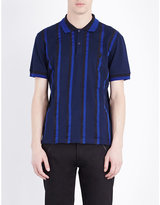Alexander Mcqueen Stripe-print Cotton-piqué Polo Shirt