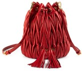 Miu Miu Metalasse Leather Bucket Bag