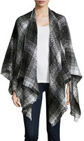 Lord & Taylor Textured Plaid Poncho