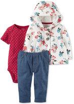 Carter's 3-Pc. Hooded Cardigan, Bodysuit & Jeggings Set, Baby Girls (0-24 months)