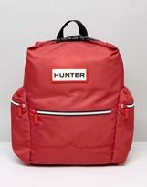 Hunter Large Logo Nylon Backpack In Red