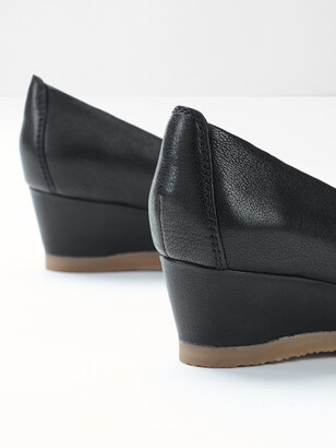 White Stuff Issy Leather Wedge Shoes