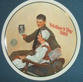 """Rockwell Norman My Mother"""" Rockwell's Mother's Day Collection-Authentic Registered Collector Plate"""