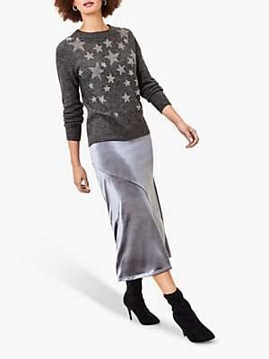 Oasis Star Embellished Jumper, Dark Grey