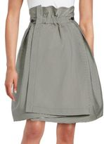 Jil Sander Navy Pleated A-Line Skirt