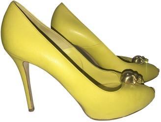 Alexander McQueen Yellow Leather Heels