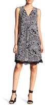 Daniel Rainn Sleeveless Printed Lace Hem Dress (Petite)