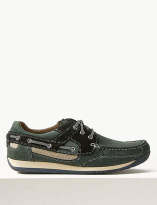 M&S CollectionMarks and Spencer Leather Lace-up Boat Shoes