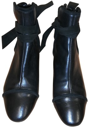 Alexandre Birman Black Leather Ankle boots