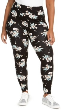INC International Concepts Inc Plus Size Floral-Print Leggings, Created for Macy's