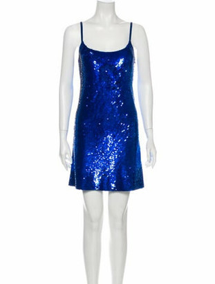 Ashish Silk Mini Dress Blue