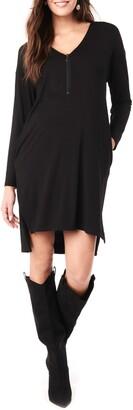 Loyal Hana Farah V-Neck Long Sleeve Maternity Dress