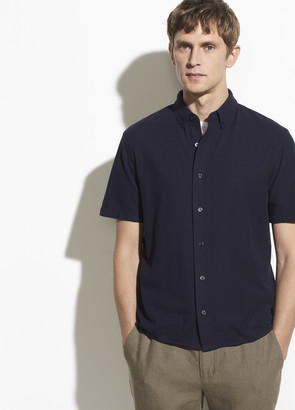 Vince Cotton Pique Button Down