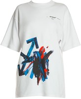 Off-White Off White Brushstroke Arrow Cotton Tee