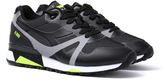 Diadora N9000 Black & Neon Yellow Bright Protection Trainers