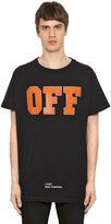 Off-White Off White Printed Cotton Jersey Oversize T-Shirt