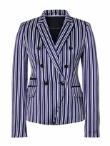Banana Republic Double Breasted-Fit Stripe Blazer
