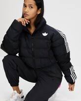 Thumbnail for your product : adidas Women's Black Parkas - Short Synthetic Down Puffer Jacket - Size 12 at The Iconic