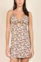 Miss Love Floral Front-Tie Dress