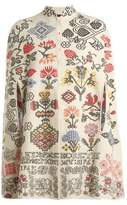 Alexander McQueen Cross-stitch intarsia cape
