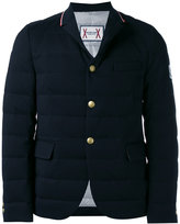 Moncler Gamme Bleu sport collar padded blazer - men - Cotton/Cupro - 1