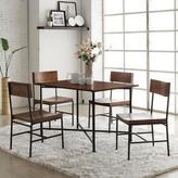 Carolina Cottage Berkshire Dining Chair in Chestnut/Black (Set of 2)