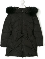 MonnaLisa hooded parka with fur trim