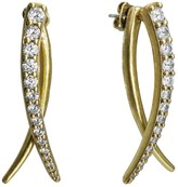 Nicole Miller Sweet Pea Front Back Earrings