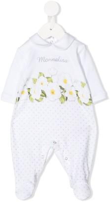 MonnaLisa Embroidered Logo Floral Print Body