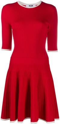 MSGM Knitted Skater Dress