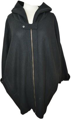 Andrea Crews Black Wool Coat for Women