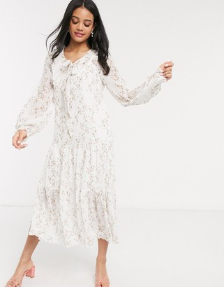 We Are Kindred alice floral smock midi dress in posey