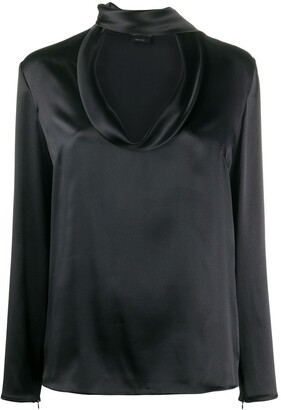 Tom Ford Silk Tie-Neck Blouse