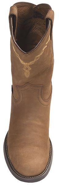 Justin Boots Coffee Westerner Cowboy Boots - J27-Toe (For Women)