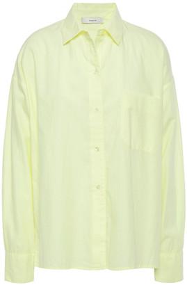 Vince Cotton And Silk-blend Twill Shirt