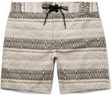 Outerknown - Evolution Long-length Printed Econyl Swim Shorts - Brown