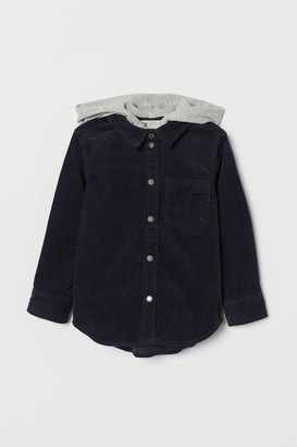 H&M Hooded Flannel Shirt - Blue